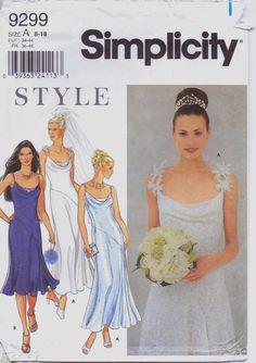 Simplicity Style Pattern 9299 Womens Bridal Wedding by CloesCloset, $18.00