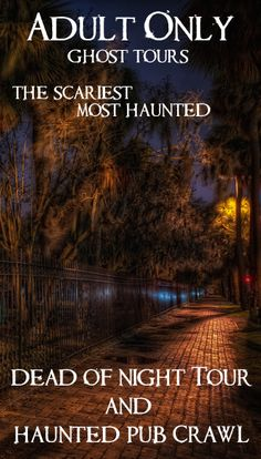 Ryan's 21st birthday Adults only Savannah Ghost Tours