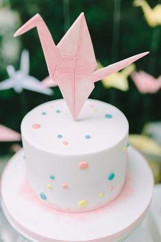 Πρωτοτυπη βαπτιση κοριτσιου με θεμα το origami - EverAfter Boy Baptism, Christening, Origami, Cake Decorating, Attitude, Desserts, Cakes, Food, Pastries