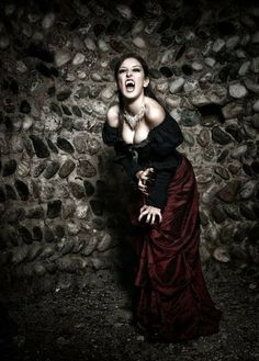 Chantal - Shooting Vampire by on DeviantArt Vampire Love, Gothic Vampire, Vampire Art, Vampire Film, Vampire Queen, Dark Gothic, Hot Vampires, Vampires And Werewolves, Zombies
