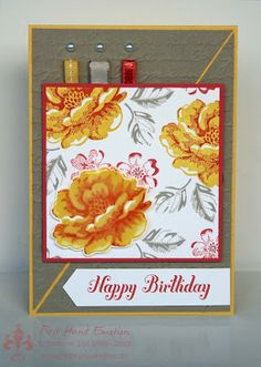 Stampin' UP! Stippled Blossoms Bring on the Cake by First Hand Emotion: IN{K}SPIRE_me Challenge #113