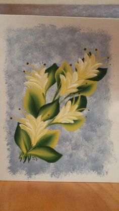 One stroke painted greeting card.