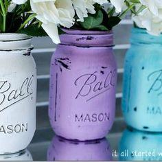 Home Decor - Mason Jar Crafts Love