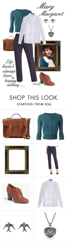 """Mary Margaret from ""OUAT"""" by le-piano-argent ❤ liked on Polyvore featuring Once Upon a Time, The Cambridge Satchel Company, NYDJ, Madewell, Burberry and Blackbird and the Snow"