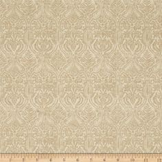 Penny Rose Joyous Christmas Damask Cream from @fabricdotcom  Designed by Erin Turner Studio for Penny Rose Fabrics, this cotton print collection features traditional Christmas motifs. Perfect for quilting, apparel, and home decor accents. Colors include shades of tan.