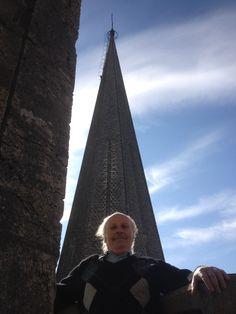 Patrice Louis near the top of Chartres Cathedral...La flèche de la tour sud
