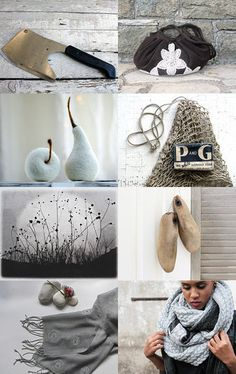 Grey.Brown. by ILONA on Etsy--Pinned with TreasuryPin.com