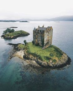 """Castle Stalker in Scotland has a long and turbulent history. Originally built as a fort by the MacDougalls in the early century, in the…"""" Beautiful Castles, Beautiful Buildings, Beautiful Places, Scotland Castles, Scottish Castles, Castle Ruins, Medieval Castle, Abandoned Castles, Abandoned Places"""
