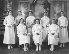 Photograph of the Notre Dame School of Nursing class of 1932. (Manchester Historic Association)