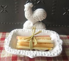 Cast Iron Rooster Business Card holder/ Soap Dish in Rustic White/ Farmhouse Decor on Etsy, $24.00