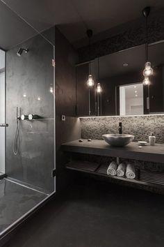 Black Colour Scheme for a bathroom? I love it.. but could never have it :(