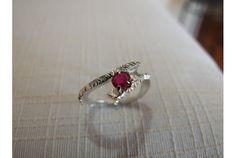 Anello argento Rubino
