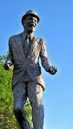 Mr. Bojangles Statue in Richmond Virginia. This monument was the first monument to be dedicated to an African-American in Richmond.