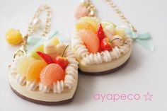 {63098A34-53A1-4D9A-A5A9-B84903AD5917} Miniture Food, Miniture Things, Polymer Clay Miniatures, Polymer Clay Charms, Mini Pastries, Cute Clay, Clay Food, Fake Food, Mini Foods