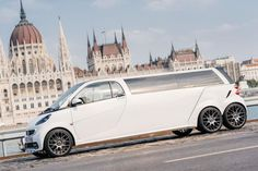 Six-wheeled Smart limousine by Limouzine.de, not sure why but ok...
