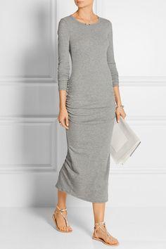 James Perse | Ruched cotton-blend jersey dress | NET-A-PORTER.COM