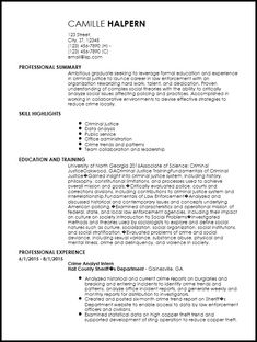 Police Officer Resume Examples Law Enforcement Get A