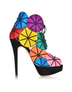 Charlotte Olympia Parasol Multicolour Platform Sandals | Shoes and Footwear