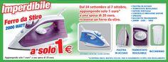 Supermercati Dico ti offre il ferro da stiro a solo 1 euro!