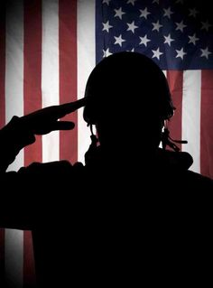 American (USA) soldier saluting to USA flag. American (USA) soldier or veteran i , I Love America, God Bless America, We Are The World, In This World, Independance Day, Bulletins, Military Love, Military Quotes, Army Mom
