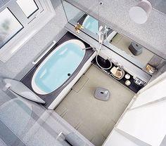Modern Japanese bathroom. looks like the one at my friend's house.