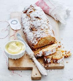 Mandel-Marzipan-Stollen Rezept Now would be the right time for it …: Almond and marzipan stollen Delicious Cake Recipes, Sweets Recipes, Yummy Cakes, Baking Recipes, Holiday Baking, Christmas Baking, Christmas Recipes, Sweet Bakery, German Recipes