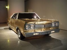 The Golden Plymouth, 2009, by Finnish artist Anssi Kasitonni. Actually it is made from cardboard! In 2011 Kasitonni won the Ars Fennica award, the most prestigious art award in Scandinavia. Q&A with the artist http://ej.uz/nwsj