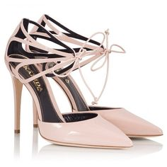 Fratelli Karida - Nude patent leather cut-out lace-up stiletto pumps (€310) ❤ liked on Polyvore featuring shoes, pumps, nude, patent leather pumps, lace up pumps, lace up stilettos, high heel stilettos and cut out pumps