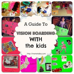 A Guide To Vision Boarding With Kids - it can be a LOT of fun - a great way to start the new year too.