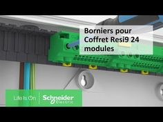 Tutoriel Resi9 - Montez des borniers dans un coffret Resi9 24 modules | Schneider Electric France #InfoWebEnvironnement Module, Nerf, Life, Box Sets, Environment