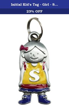 Initial Kid's Tag - Girl - S by Ganz. If you've ever lost a backpack, you'll know how important it is to have your name on it! ; Initial keychain charm; Great to place on a keyring; Place on a backpack to personalize it; Ideal for children; Measures 1.5in (4cm) tall and 0.5in (1.3cm) wide.