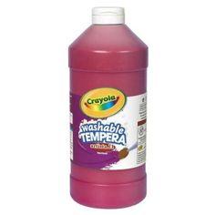 Crayola Washable Tempera Paint - 2 Lb - 1each - Red (543132038) - Walmart.com