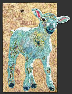 Lamb block, in the Farm Quilt by Bonnie Keller.  BOM at American Quilter's Society. Patchwork, Quilt Storage, Farm Quilt, Quilting Projects, Quilting Designs, Art Quilting, Quilting Ideas, Sewing Projects, Wool Applique