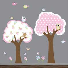 Wall decals vinyl wall decal tree with owls birds by Modernwalls, $119.00