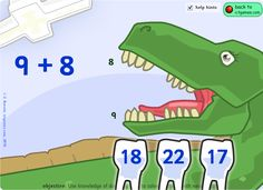 Tons of online math games Math Classroom, Kindergarten Math, Teaching Math, Math Addition, Addition And Subtraction, Addition Facts, Math Resources, Math Activities, Math Sites