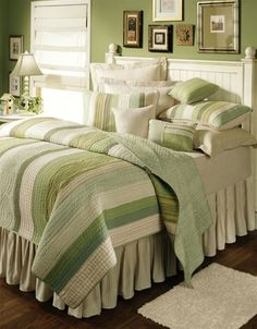 love all of the green      #bedroom #interior #home