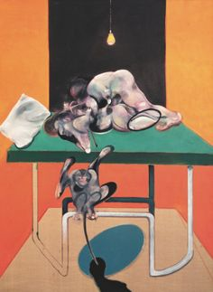 Francis Bacon Two figures with a monkey, 1973, Private Collection. Bridgeman Images © The Estate of Francis Bacon. All rights reserved. / DACS, London / ARS, NY 2014