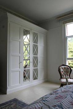 36 ideas for ikea closet doors Bedroom Closet Design, Bedroom Wardrobe, Wardrobe Doors, Bedroom Doors, Built In Wardrobe, Wardrobe Door Designs, Closet Designs, Ikea Closet Doors, Mirrored Closet Doors