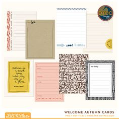 Welcome Autumn Cards
