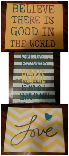 DIY Canvas art I love the love.