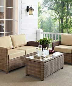 Look what I found on #zulily! Three-Piece Sand Biltmore Wicker Outdoor Seating Set #zulilyfinds