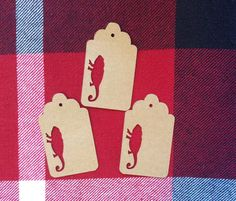 Die Cut Chameleon Tag by NatureCuts on Etsy