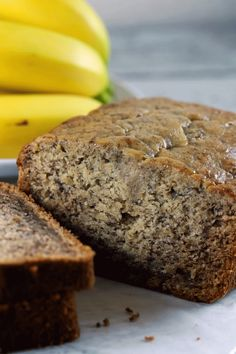 The Perfect Banana Bread Banana bread is such a classic dessert! An… The Perfect Banana Bread Banana bread is such a classic dessert! And we have the PERFECT recipe for you! It will give you yummy mouth-watering banana bread in under one hour! Köstliche Desserts, Delicious Desserts, Dessert Recipes, Yummy Food, Parfait Recipes, Tasty, Biscuits, Classic Desserts, Banana Bread Recipes