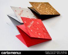 Minicartas para Navidad Carta-menu.com