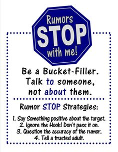 For Mr. Peabody's Apples PC Lesson. RUMORS STOP WITH ME Leave Behind Poster.