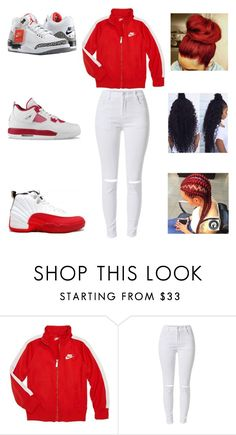 """going to the store"" by aleisharodriguez ❤ liked on Polyvore featuring NIKE and Retrò"