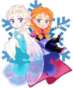 Frozen Chibis by Apricot-Crown on DeviantArt