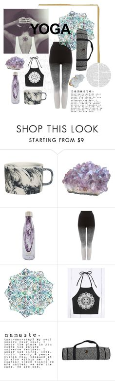 """""""Yoga"""" by ladyakbar ❤ liked on Polyvore featuring BlissHome, S'well, Pepper & Mayne, NOVICA and Helix & Felix"""