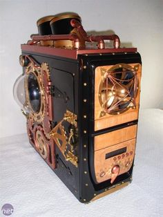 Steampunk'd modded pc computer case