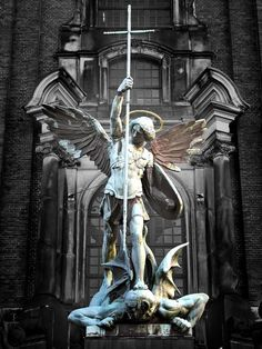 Archangel Michael conquering the Devil Hamburg, Germany – St. Michaelis Church Tombamasta,   Spiritual Warfare | Awestruck.tv
